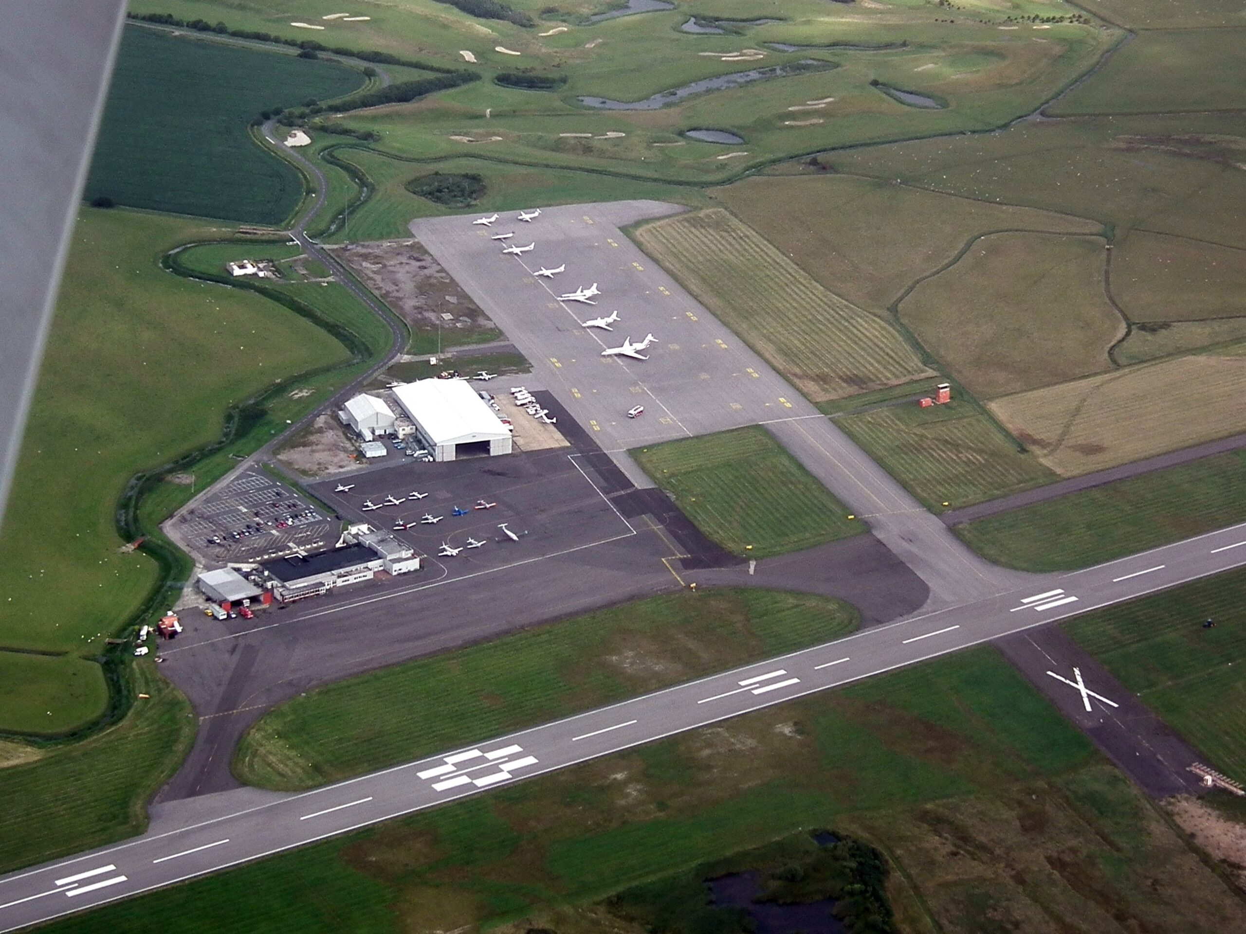 Lydd Airport overhead